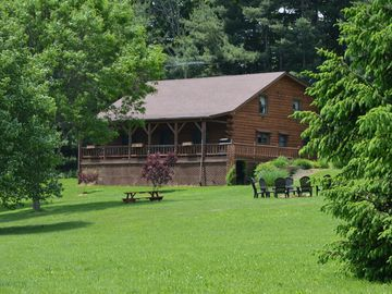 Mid Ohio Sportscar Course >> Large Log Cabin On 12 Private Acres With Fishing Pond Near Mohican State Park