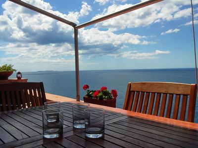 Photo for Cala Piccola's sea view tower home + access to exclusive private beach (Tuscany)