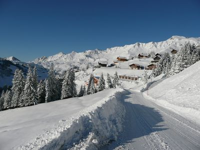 Photo for Cozy chalet with stunning views of the Dents du Midi