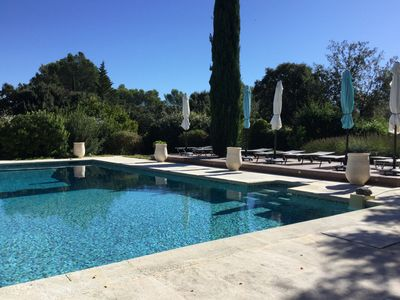 Photo for Renovated house in the middle of the Luberon hill with private pool