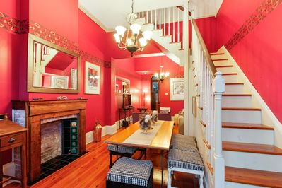 Vacation begins as you enter the cozy French country dining. Bedrooms upstairs!