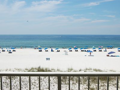 Photo for Castaways 3B: Beautiful, Gulf front condo with walking distance to public beach.