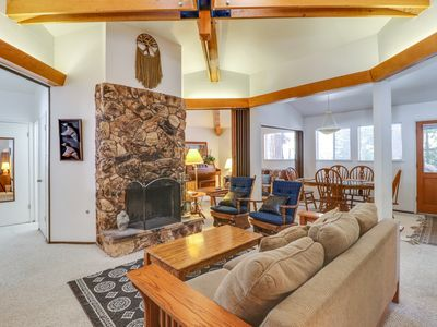 Photo for NEW LISTING - Comfortable home w/ a furnished deck - close to skiing & the lake!