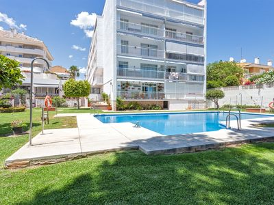 Photo for Puerto Marina, sea view apartment, pool in the heart of the summer life