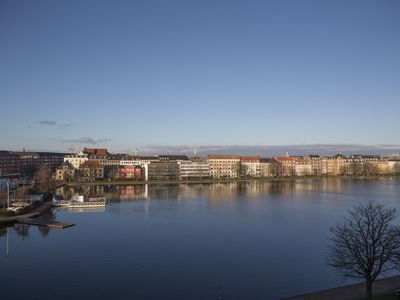 Photo for Penthouse apartment on 2 floors overlooking the Pebling lake in Copenhagen C, 160M2