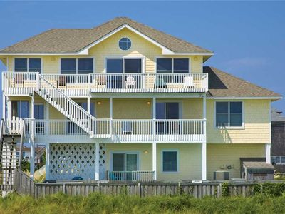 Photo for Divine Oceanfront Views Salvo- Pool, Hot Tub, Pier Passes, Game Rm, Dog-Friendly