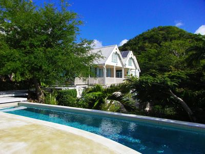 Photo for Spacious home overlooking English Harbour with huge outside living space + POOL