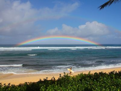 Photo for Hula Hut home on North Shore's beautiful Sunset Beach/Oceanfront property 30 nts
