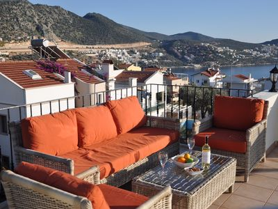 Photo for Beautiful 2 Bedroom Apartment in a Quiet Location with Sea and Mountain Views