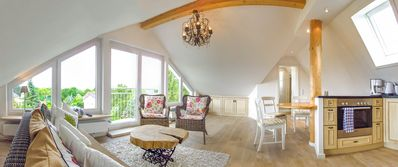 """Photo for Light Holiday Apartment """"Haus See- und Säntisblick DG"""" with Wi-Fi & Mountain View; Parking Available"""