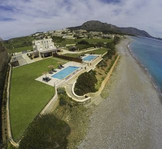 Photo for Kiotari Luxury Waterfront Villa with big private infinity Pool on the beach