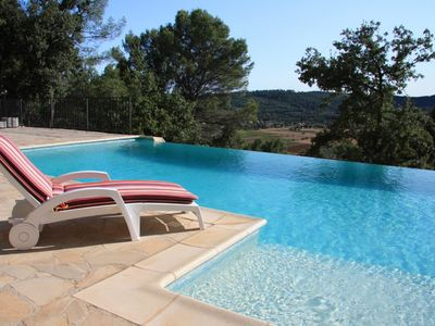 Photo for Luxury Villa with infinity pool. 1 hour from Nice Airport. Read our 41 reviews !