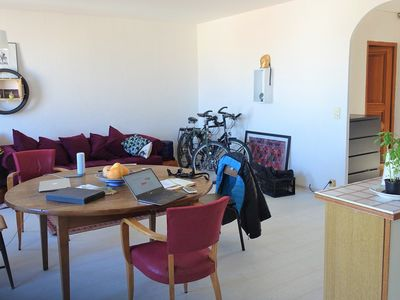 Photo for Bright apartment with terrace overlooking the Auffes valley and the
