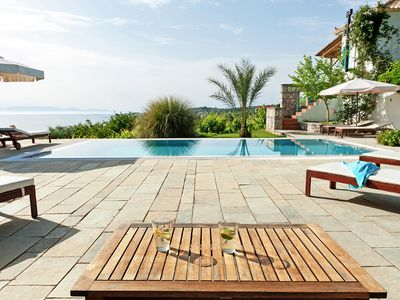 Photo for Icon Painter's Villa Marathi, with pool and sea view, by JJ Hospitality