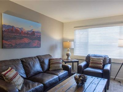 Photo for Cozy Downtown Condo Close to Arches with Full Kitchen & Hot Tub.