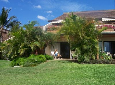 From our private lanai you can let go and soak up the warm Hawaiian sun all day.