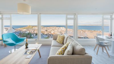 Photo for Sea Spirit with best views panoramic of St Ives ever! Within walking distance of heart of St Ives and beaches. Allocated parking. Free WiFi.