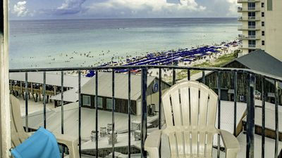 Photo for Cozy beachfront condo, with amazing views & sunsets in PCB
