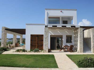 Photo for Modern Villa - Fantastic sea and mountain views with pool & free Wi-Fi