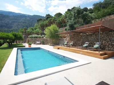 Photo for Stylish Majorcan finca with pool in hillside location above Sóller
