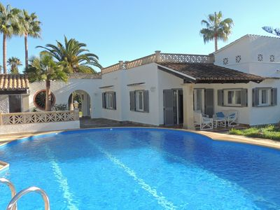 Photo for Summer kitchen, private pool, BBQ, outdoor bar and walking to the sandy beach