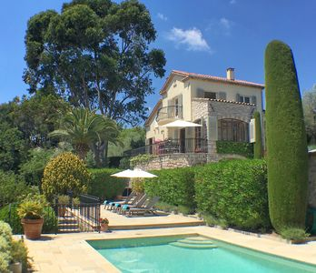 Photo for Mougins luxury 3 bedroom villa with private heated pool in secluded gardens