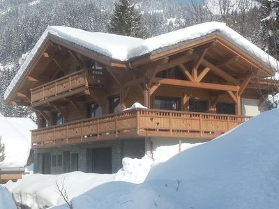Photo for New luxury cottage, sauna and spa 3 minutes from Châtel 74390