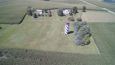 Aerial view from the east side of property