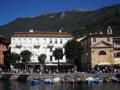 Photo for CENTRAL - The marina of Malcesine, near the castle, shops, restaurants