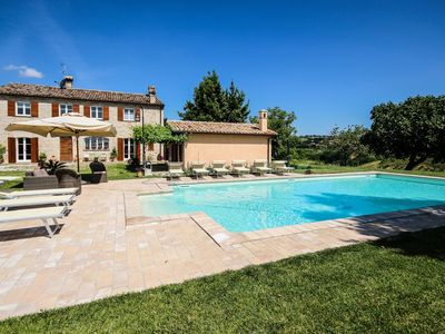 Photo for Villa Panorama, with swimming pool in the Marche region hills, a few kilometers from the Adriatic Se