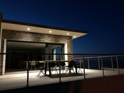 Photo for U SOLE, luxury villa with infinity pool sea view