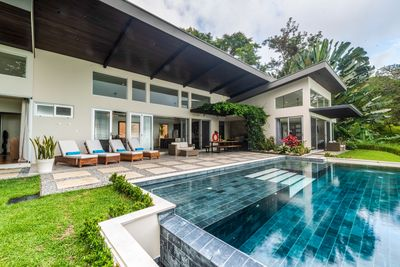 A tropical modern masterpiece perfectly situated in the mountains of Escalares.