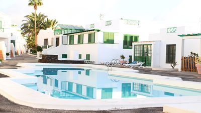 A small glimpse of the complex where you can see the beautiful pool.