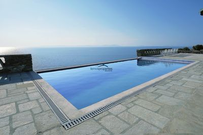 The sea water swimming pool and a view to die for