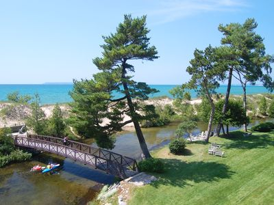 Photo for Beach and Riverfront in Glen Arbor's Homestead Resort! 3BR/3BA, acc: 8!