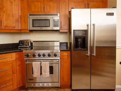 Kitchen With Viking Appliances Included With 1 Bedroom And Fully Appointed  Suite