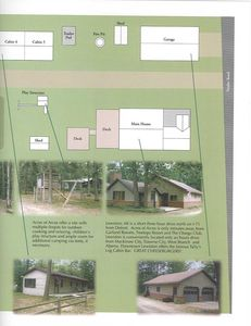 Rest of site layout.  Main house is not for rent.