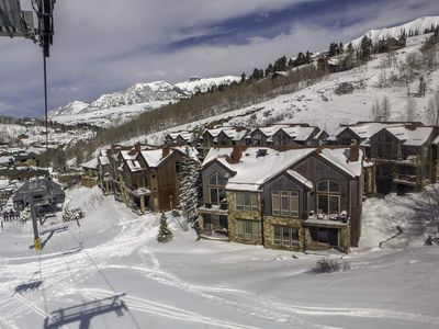 Photo for Ski-in/Out Home, Walk to Lifts, Beautiful Mountain Views : Slopeside Retreat at the Terraces