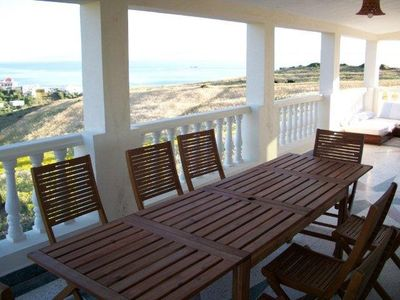Photo for Family friendly villa with sea views, just 10 min walk to the beach