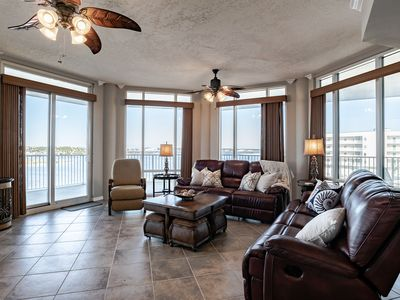 Photo for *New Rental* Stunning panoramic views! Oversized 4/3 with huge deck! Bay front!