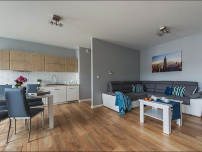 Photo for Solec 7 apartment in Nowe Miasto with WiFi, balcony & lift.