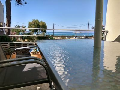 Photo for Apartment by the sea at the best beach close to Chania