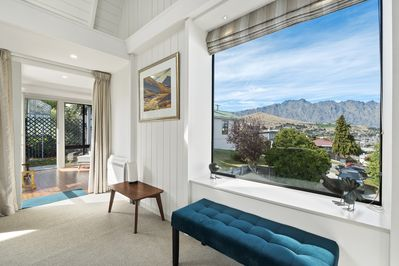 Views to The Remarkables Mountain Range from the living area