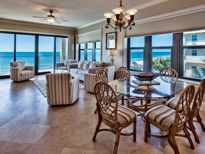 Photo for Beach Front Corner Unit 4 Bedroom 3 Bath Villa Coyaba 209 2 Chairs of Beach Service Included!