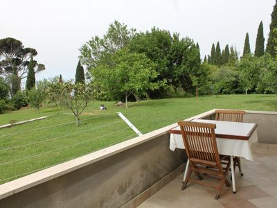 Photo for One bedroom apartment with terrace and sea view Mlini (Dubrovnik)