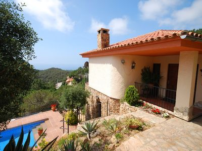 Photo for Detached villa near Lloret de Mar with private pool and stunning views