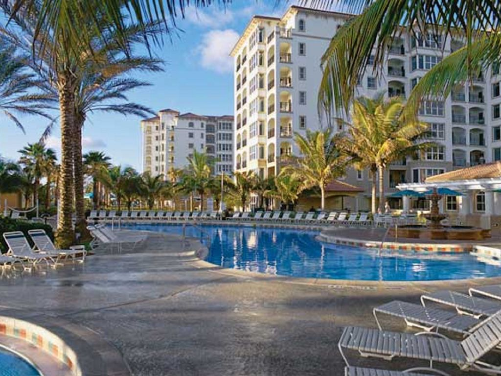 the main pool  free cabanas and lots of chairs. marriott ocean pointefull kitchen  lr br  vrbo