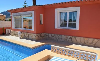 Photo for Villa with 2 bedrooms, air conditioning, WiFi, pool, 300m to the sea in Els Poblets / Denia