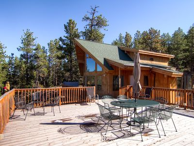 Photo for Great Family Home! Hot Tub! Huge Deck! 7 Miles from Downtown Nederland & Private