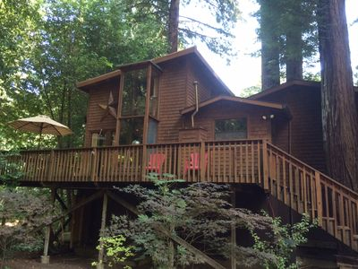Photo for Beautiful Secluded Cabin Walking Distance To Town